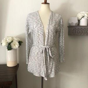 Sunday in Brooklyn open front belted cardigan XS